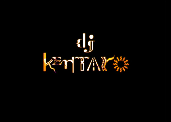 "DJ KENTARO ""Tasogare Highway High"" Title Logo"